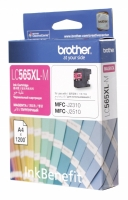 Картридж оригинальный пурпурный (magenta) Brother LC-565XL-M, ресурс 1200 стр.