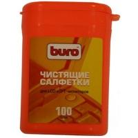 Туба BURO с салфетками для чистки LCD-мониторов, 100 шт