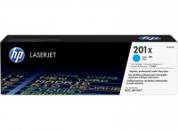 Картридж оригинальный голубой (увеличенного объема) HP 201X Cyan (CF 401X)