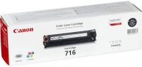 Картридж оригинальный черный (black) Canon Cartridge 716 K / Bk, ресурс 2300 стр.