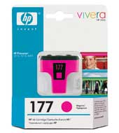 Картридж оригинальный пурпурный (magenta) HP C8772HE (№177), ресурс 500 стр.
