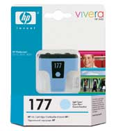 Картридж оригинальный светло-голубой (light cyan) HP C8774HE (№177), ресурс 500 стр.