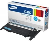 Картридж оригинальный голубой (cyan) Samsung CLT-C407S, ресурс 1000 стр.