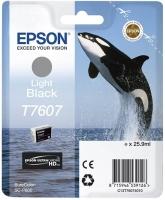 Картридж оригинальный серый Epson T7607 (light black), объем 25,9 мл.