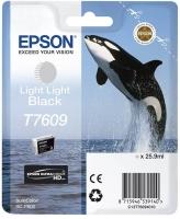 Картридж оригинальный светло-серый Epson T7609 (light light black), объем 25,9 мл.
