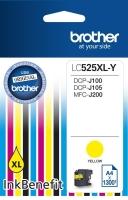 Картридж оригинальный желтый (yellow) Brother LC525XL-Y, ресурс 1300 стр.