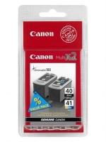 Комплект картриджей оригинальный Canon PG-40 (Black) и Canon PG-41 (Color), объем: черный 16 мл., цветной 12 мл.
