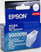 Картридж оригинальный (в технологической упаковке) черный Epson S020093/187, ресурс 540 стр.