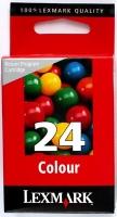 Картридж оригинальный цветной Lexmark 18C1524E (№ 24) Color, ресурс 150 стр.