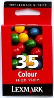 Картридж оригинальный цветной (повышенной емкости) Lexmark 18C0035 (№35) Color (z), ресурс 450 стр.