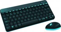 Комплект Logitech MK240 беспроводные мышь и клавиатура черная, USB