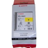 Картридж Canon PFI-102Y желтый для iPF500/iPF510/iPF600/iPF605/iPF610/iPF700/iPF710/iPF720. Объем 130 мл.