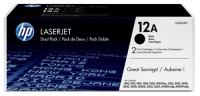 Картридж оригинальный HP Q2612AD / 12A двойная упаковка. Ресурс каждого картриджа 2000 стр.