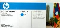 Картридж оригинальный голубой (cyan) HP Q6001A, ресурс 2000 стр.