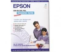 Бумага Epson S041154 (Iron-on Peel Transfer Paper) для перевода изображений на светлую ткань, А4, 10 л.