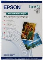 Бумага Epson S041340 (Archival Matte Paper) матовая, A3+, 192 г/м2, 50 л.