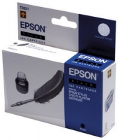 Картридж оригинальный (в технологической упаковке) черный (black) Epson T0321, ресурс 620 стр.