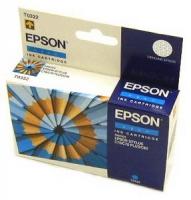 Картридж оригинальный (в технологической упаковке) голубой (cyan) Epson T0322, ресурс 420 стр.