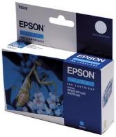 Картридж оригинальный (в технологической упаковке) голубой (cyan) Epson T0332, ресурс 440 стр.