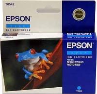 Картридж оригинальный (в технологической упаковке) голубой (cyan) Epson T0542 / C13T054240, ресурс 400 стр.