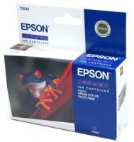 Картридж оригинальный (в технологической упаковке) синий (blue) Epson T0549 / C13T05494010, ресурс 400 стр.
