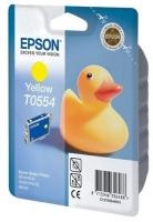Картридж оригинальный (в технологической упаковке) желтый (yellow) Epson T0554 / C13T055440, ресурс 290 стр.
