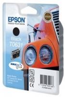 Картридж оригинальный (в технологической упаковке) черный (black) Epson T0631, ресурс 250 стр.