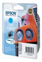 Картридж оригинальный (в технологической упаковке) голубой (cyan) Epson T0632, ресурс 250 стр.