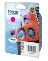 Картридж оригинальный (в технологической упаковке) пурпурный (magenta) Epson T0633, ресурс 250 стр.