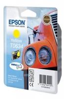 Картридж оригинальный (в технологической упаковке) желтый (yellow) Epson T0634, ресурс 250 стр.