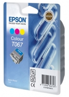 Картридж оригинальный (в технологической упаковке) цветной Epson T067 / C13T06704010 Color, объем 25 мл.