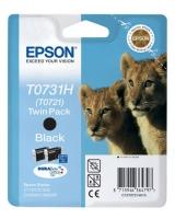 Картридж оригинальный (в технологической упаковке) черный (black) Epson T0731H / C13T07311A10 / C13T10414A10, ресурс 740 стр.