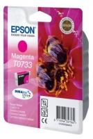 Картридж оригинальный (в технологической упаковке) пурпурный (magenta) Epson T0733 / C13T07334A10, ресурс 425 стр.