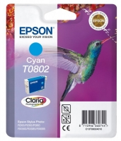 Картридж оригинальный (в технологической упаковке) голубой (cyan) Epson T0802 / C13T08024010,объем 7,4 мл.
