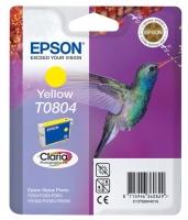 Картридж оригинальный (в технологической упаковке) желтый (yellow) Epson T0804 / C13T08044010, объем 7,4 мл.