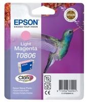 Картридж оригинальный (в технологической упаковке) светло-пурпурный (light magenta) Epson T0806 /  C13T08064010, объем 7,4 мл.
