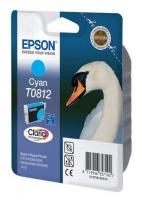 Картридж оригинальный (в технологической упаковке) (повышенной емкости) голубой (cyan) Epson T0812 / C13T08124A, объем 11,1 мл.