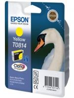 Картридж оригинальный (в технологической упаковке) (повышенной емкости) желтый (yellow) Epson T0814 / C13T08144A, объем 11,1 мл.
