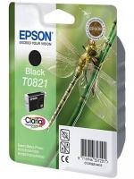 Картридж оригинальный (в технологической упаковке) черный (black) Epson T0821 / C13T08214A, объем 7,5 мл.