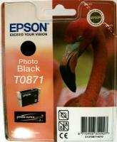 Картридж оригинальный (в технологической упаковке) черный (black) Epson T0871, ресурс 560 стр.