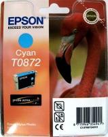 Картридж оригинальный (в технологической упаковке) голубой (cyan) Epson T0872, ресурс 650 стр.