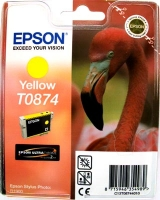 Картридж оригинальный (в технологической упаковке) желтый (yellow) Epson T0874, ресурс 1160 стр.