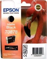 Картридж оригинальный (в технологической упаковке) матовый черный (matte black) Epson T0878, ресурс 520 стр.