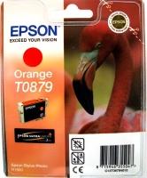 Картридж оригинальный (в технологической упаковке) оранжевый (orange) Epson T0879, ресурс 1215 стр.