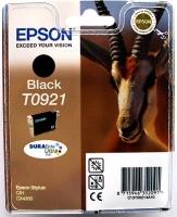 Картридж оригинальный (в технологической упаковке) черный (black) Epson T0921 / C13T09214A10, объем 7,4 мл.