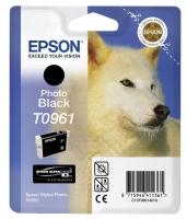 Картридж оригинальный (в технологической упаковке) черный фото (photo black) Epson T0961, объем 11,4 мл.