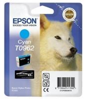 Картридж оригинальный (в технологической упаковке) голубой (cyan) Epson T0962, объем 11,4 мл.