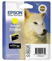 Картридж оригинальный (в технологической упаковке) желтый (yellow) Epson T0964, объем 11,4 мл.