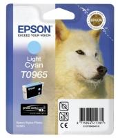 Картридж оригинальный (в технологической упаковке) светло-голубой (light cyan) Epson T0965, объем 11,4 мл.