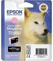 Картридж оригинальный (в технологической упаковке) светло-пурпурный (light magenta) Epson T0966, объем 11,4 мл.